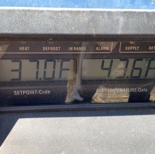 Solar Powered Refridgerator Unit Holding Temp 37 degrees