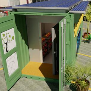 Solar Powered Refriderator Unit