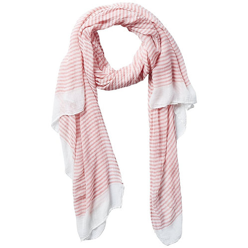 Tiny Stripe Insect Shield Scarf - Coral