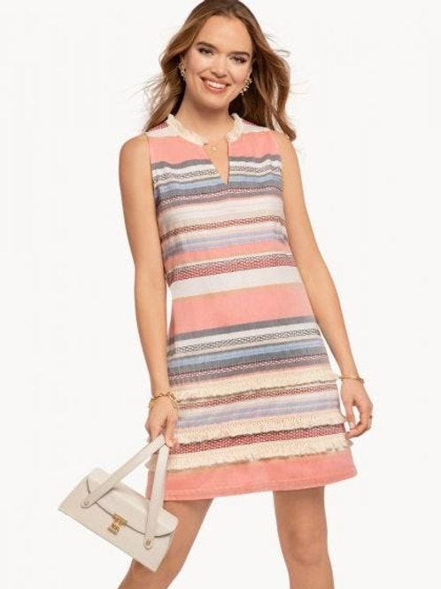 Striped Fringe Dress
