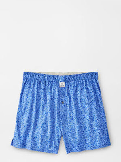 Peter Millar Heritage Performance Boxer Short-Cape Blue