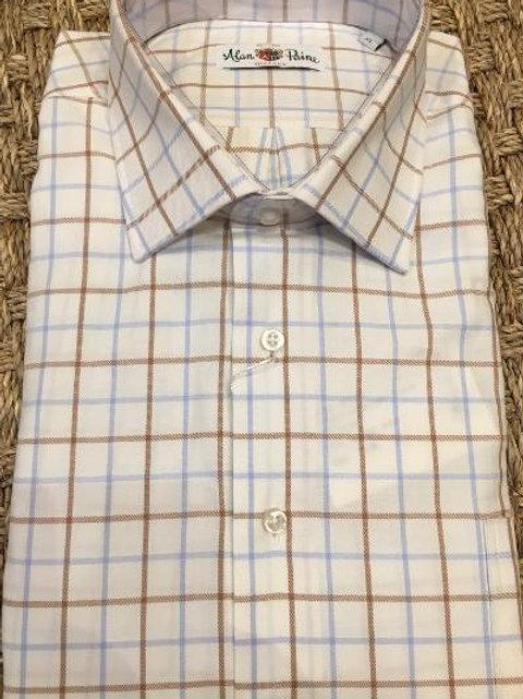 Alan Paine Dunsdale Windowpane Sport Shirt