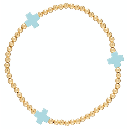 enewton- Cross Gold Bracelet Turquoise