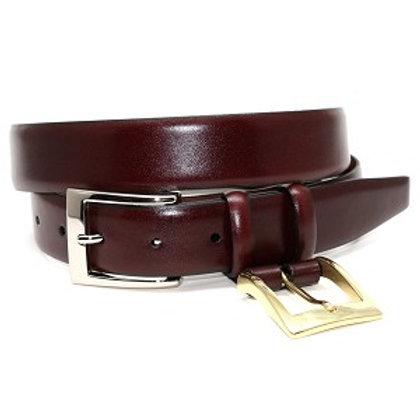 Torino Italian Calfskin Belt with Interchangeable Buckle-Cordovan