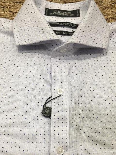 Forsyth of Canada Mens Wrinkle Free Dress Shirt-Cranberry Check