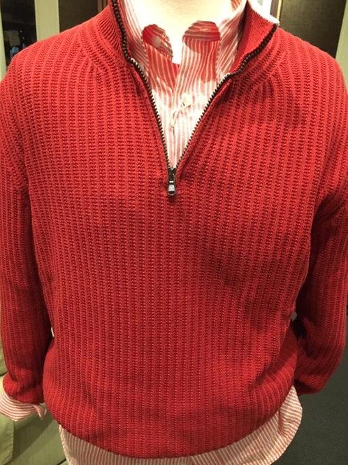 Gionfriddo Cotton Shaker Knit 1/4 Zip Wind Sweater