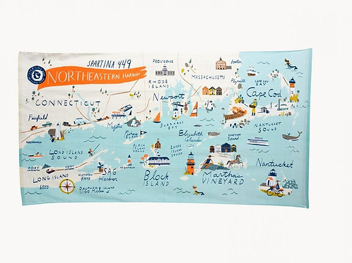 Northeastern Harbors Towel