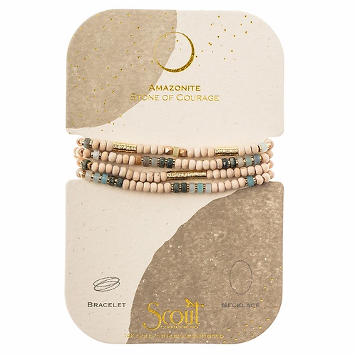 Amazonite | Stone of Courage Wrap Bracelet