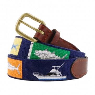 Smathers And Branson Sportfishing Needlepoint Belt