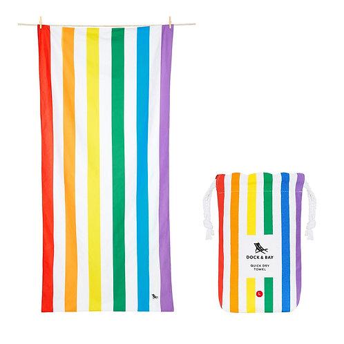 Quick Dry Cabana Beach Towel Rainbow Skies