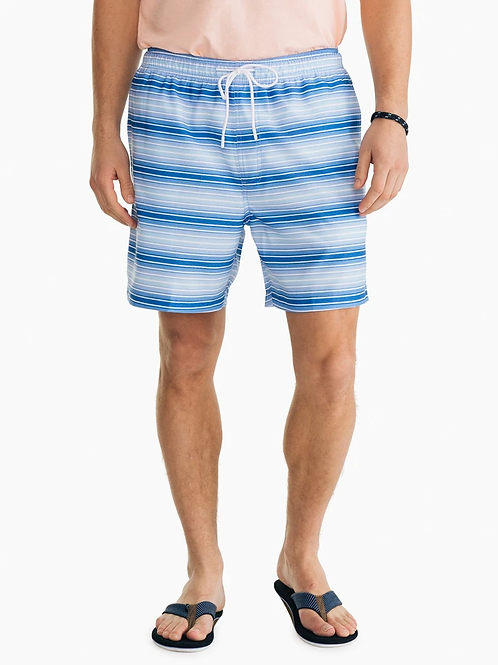 Southern Tide Gradient Stripe Swim Trunk