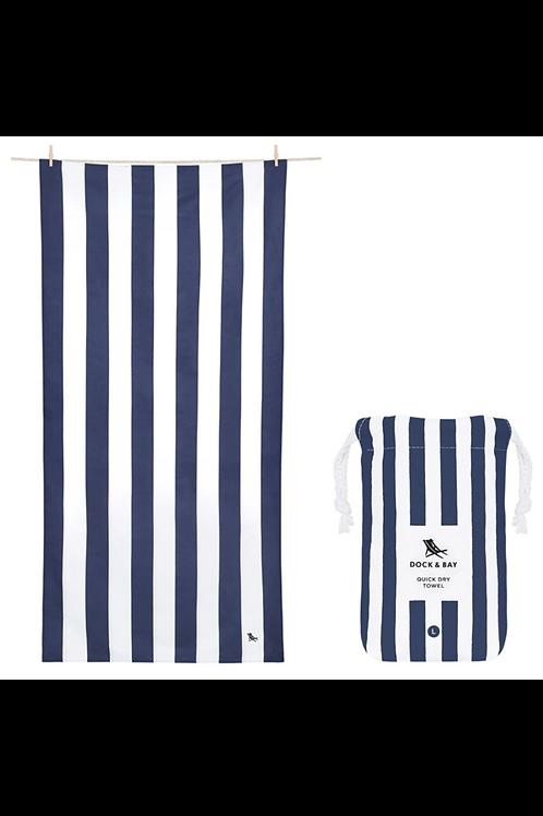 Quick Dry Beach Towel  Whitsunday Blue