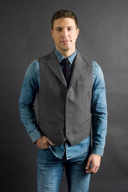 "Q By Flynt ""Gable"" Tweed Vest"