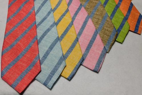 J. Alden Signature Linen Repp Stripe Neckties