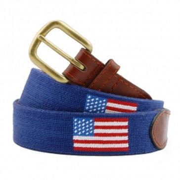Smathers & Branson American Flag  Needlepoint Belt