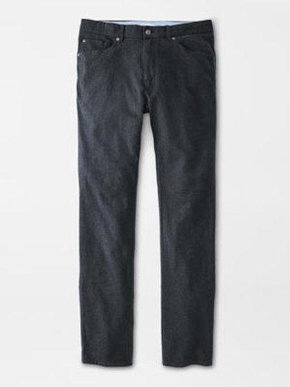 "Peter Millar Flannel Five Pocket Pant- Color ""Iron"""