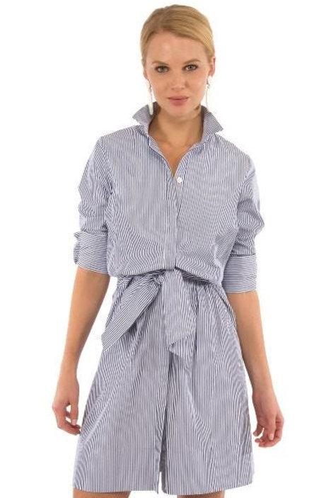 Wash & Wear Breezy Blouson Dress - Stripe