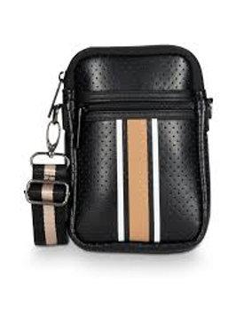 Black/Tan Cell Phone Bag