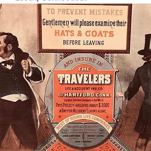 Travelers Insurance Framed Vintage Advertisements