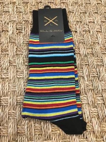 ELL & ATTY Mens Awning Stripe Socks