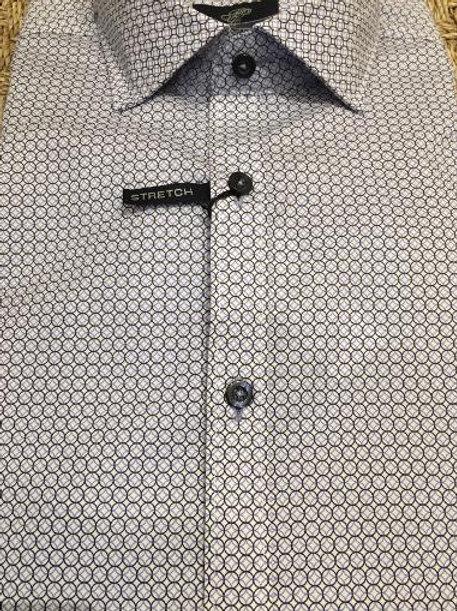 Forsyth of Canada Mens Wrinkle Free Geometric Sportshirt Modern Fit