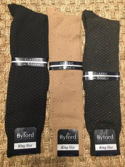 Byford King Size Fancy Dress Socks-Over The Calf