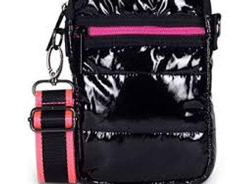 Black Puffer Cell Phone Bag