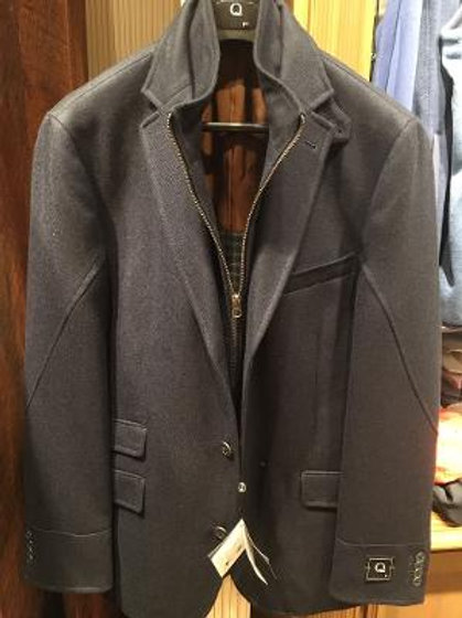 Q By Flynt Rizzo Jacket in Navy Blue