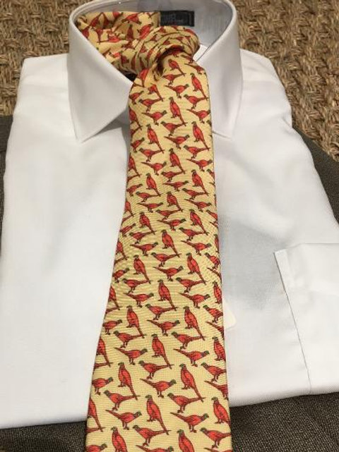 Peter Blair Silk Pheasant Tie-Maize Yellow