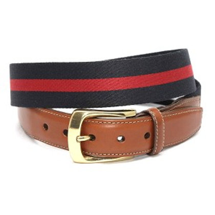 Torino European Ribbed Striped Surcingle Belt