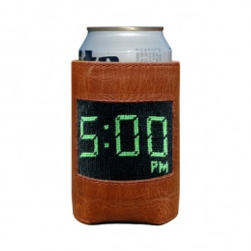 Smathers and Branson Five O'Clock Needlepoint Can Cooler