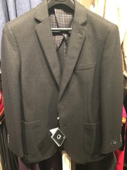 "Q By Flynt ""Burton"" Sportcoat in Black  Wool"