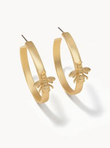 Sticky Bee Hoop Earring
