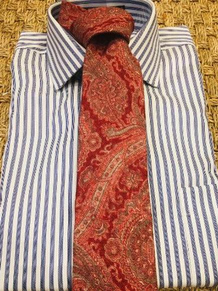 Wool & Silk Raspberry Paisley Neckties