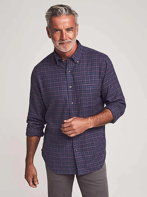 Faherty Stretch Featherweight Flannel- Hayes Check