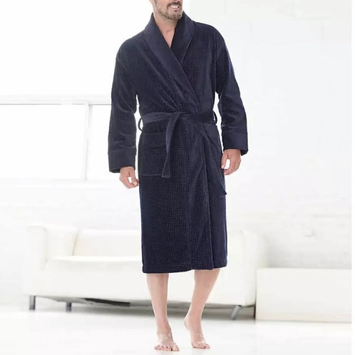 Majestic Solid Terry Velour Robe