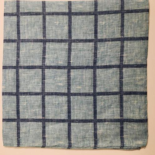 J. Alden Signature Linen Windowpane Pocket Square