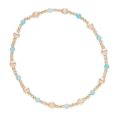 enewton- Dignity Sincerity Pattern Bead Bracelet Gemstone