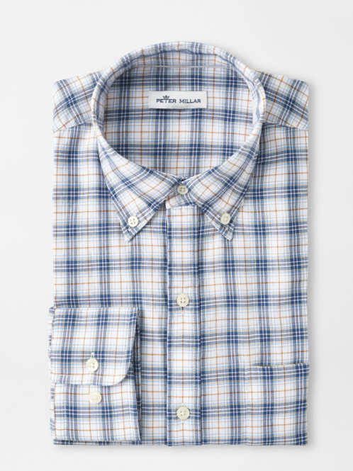 Peter Millar Armidale Cotton Sportshirt in Atlantic Blue