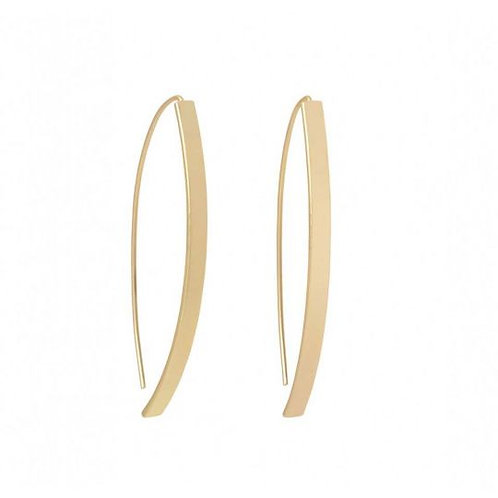 Arc Hoop Earring Gold