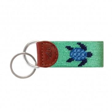 Smathers & Branson Turtle Key Fob-Mint