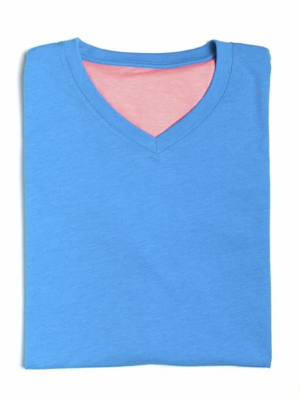 Michael's Solid V-Neck Tee Shirt in Pima Cotton