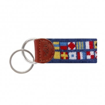 Smathers & Branson Nautical Alphabet Flag Key Fob
