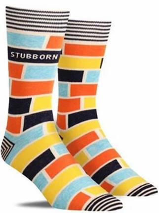 Blue Q Men's Crew Socks-Stubborn Socks