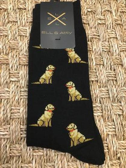 ELL & ATTY Mens Golden Retriever Socks