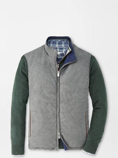 Peter Millar Reversible Flannel Vest in Gray/Navy