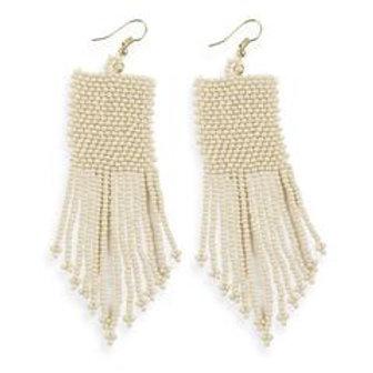 Ivory Seed Bead Earring