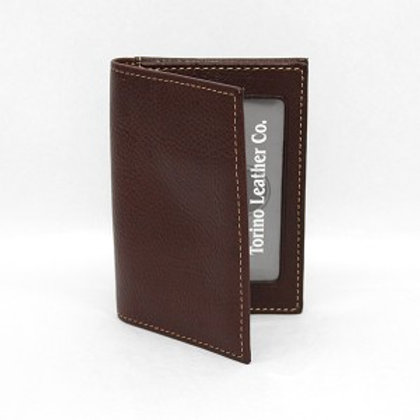 Torino Tumbled Glove Leather Gusseted Card Case