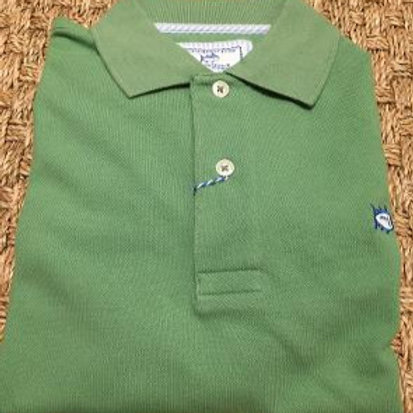Southered Tide Heathered Polo Shirt-Paradise Green