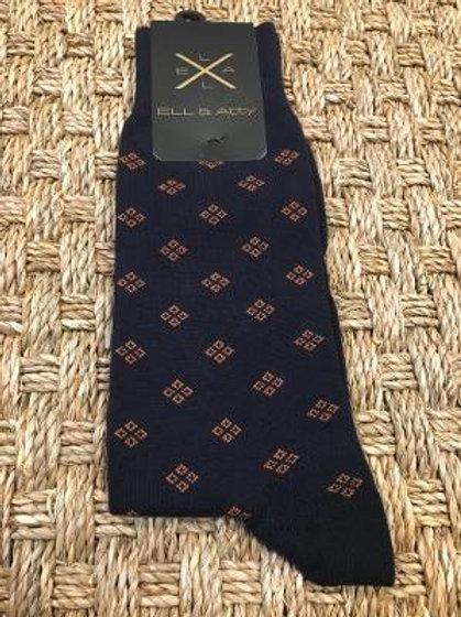 ELL & ATTY Mens Crisp Medallion Socks